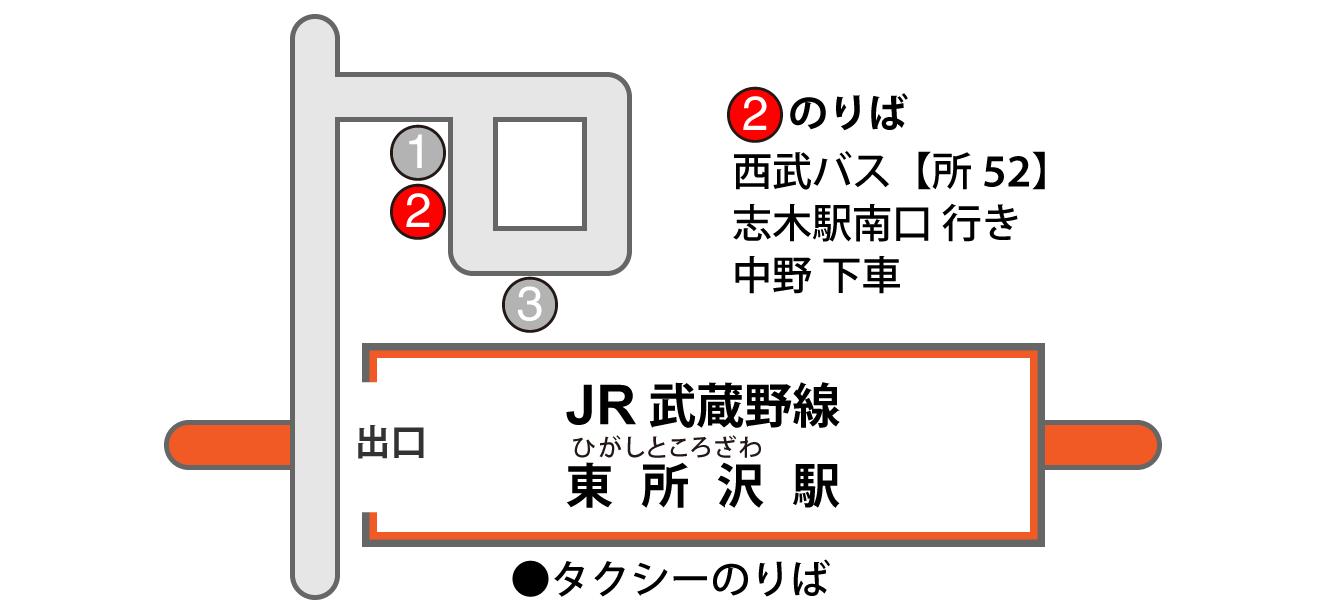 東所沢駅バス乗り場