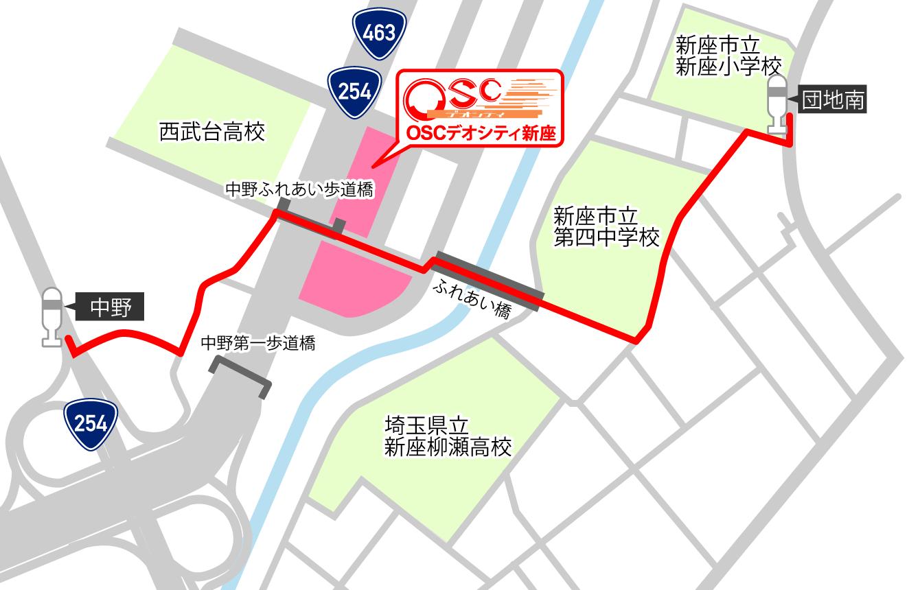 バス停より徒歩MAP